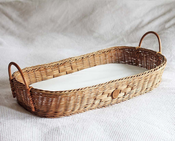 rattan change basket
