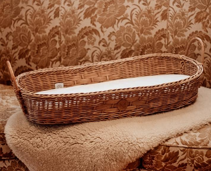 rattan changing basket