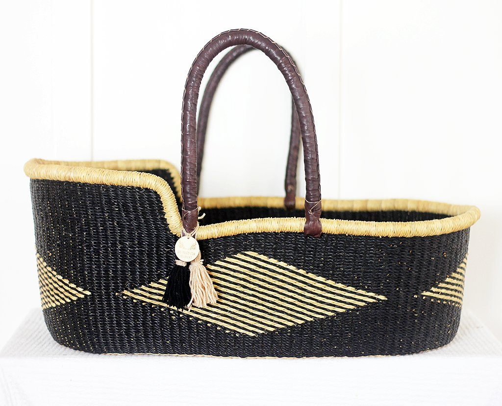 'Black Diamond' Moses Basket  - (mattress included)