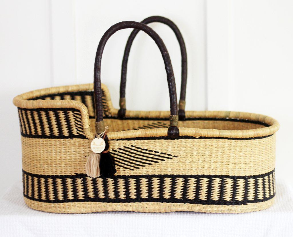 'Sailor' Moses Basket  - (mattress included)