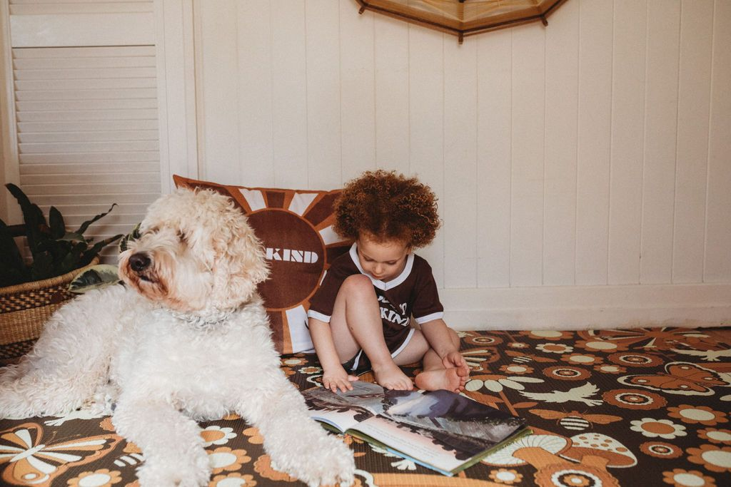 baby playmat with dog