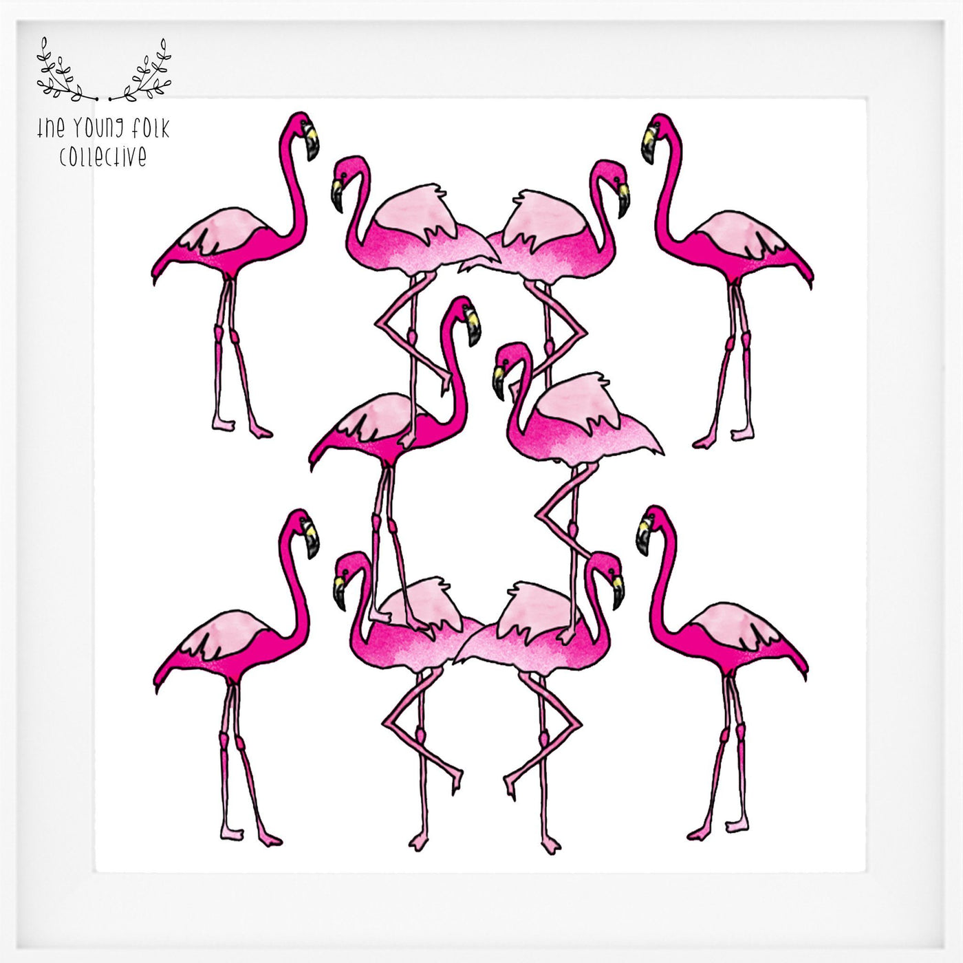 nursery print flamingo