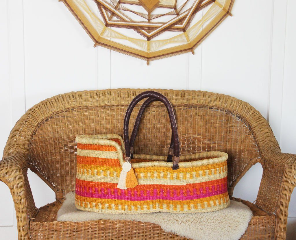'Golden Hour' Moses Basket - (mattress included)