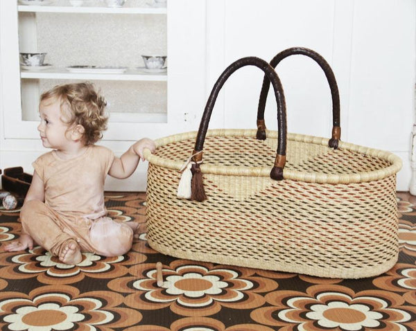 'Vine' FT Moses Basket  - (mattress included)