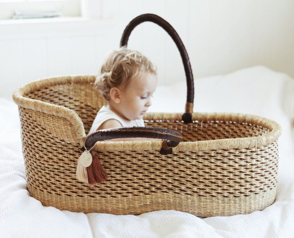 'Birch' Moses Basket  - (mattress included)