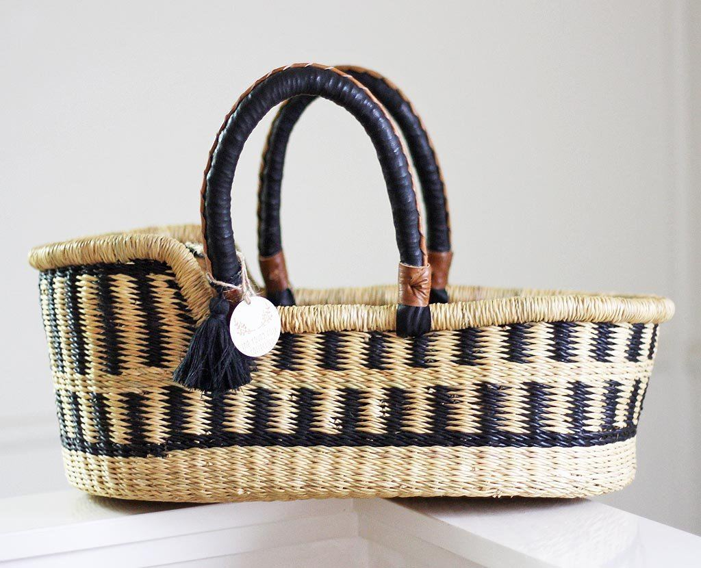 'Midnight Muse' Mini Moses Doll Basket