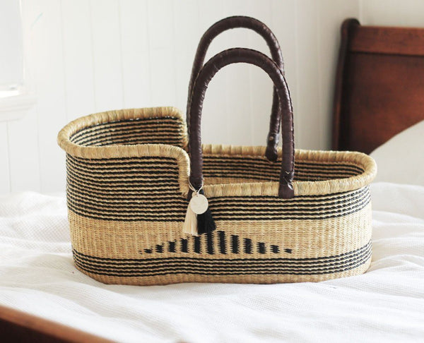 'Inca' Moses Basket - (mattress included)