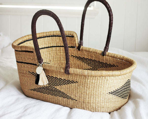 'Mayan' Moses Basket  - (mattress included)