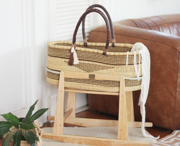 'Redwood' FT Moses Basket  - (mattress included)