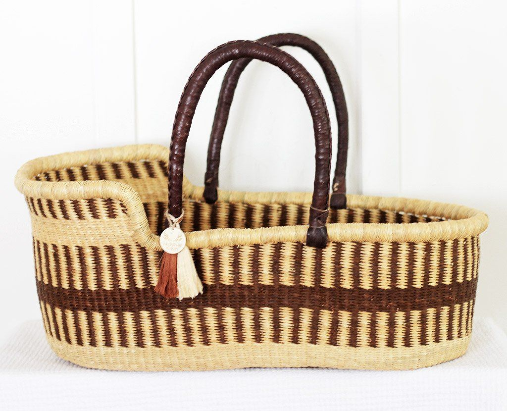 'Elm' Moses Basket  - (mattress included)