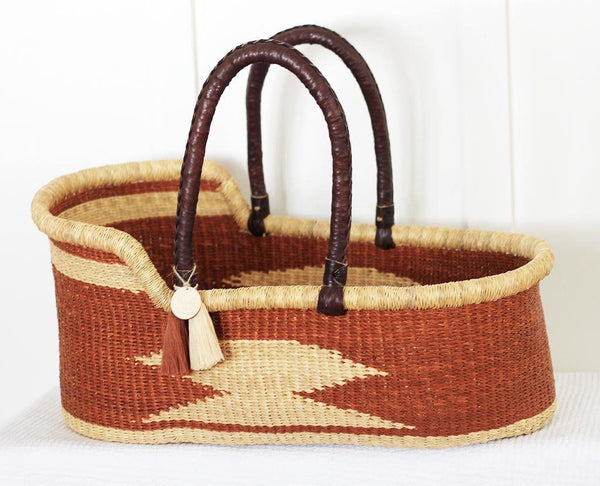 'Congo' (Tan) Moses Basket  - (mattress included)