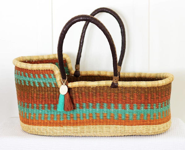 'Autumn Breeze' Moses Basket  - (mattress included)