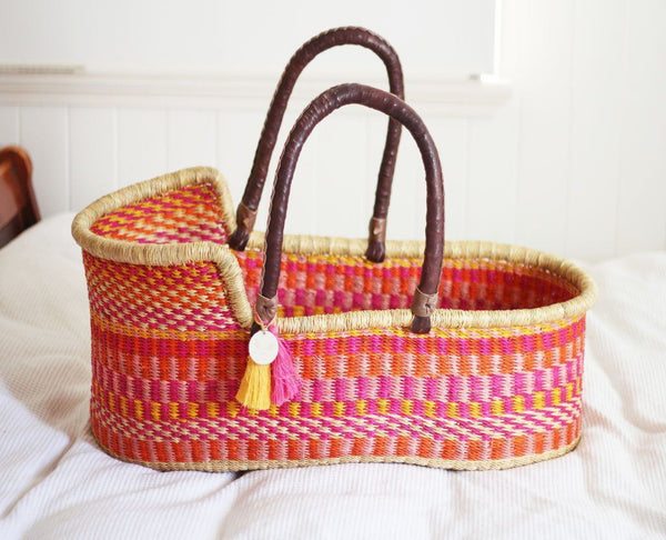 'Coral' Moses Basket  - (mattress included)