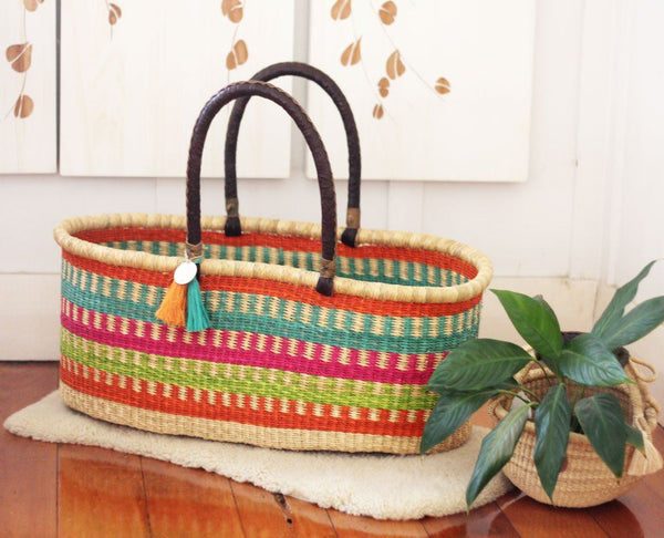 'Rainbow Dreamer' Moses Basket  - (mattress included)
