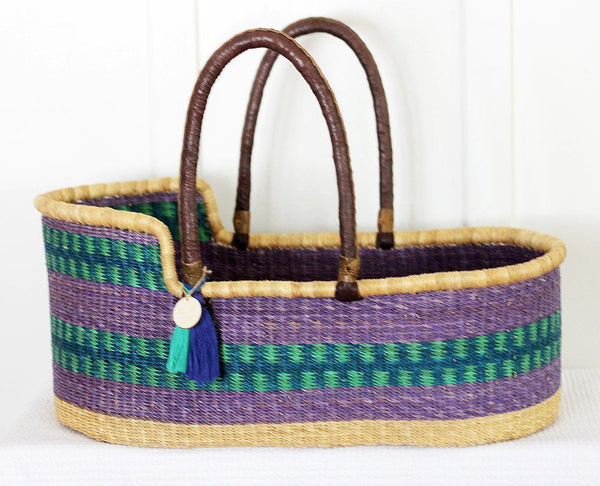 'Bay' Moses Basket  - (mattress included)