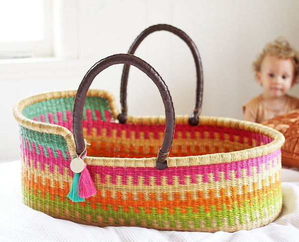 'Penny Lane' Moses Basket  - (mattress included)