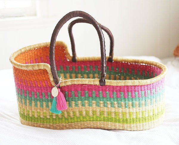 'Lacey' Moses Basket  - (mattress included)