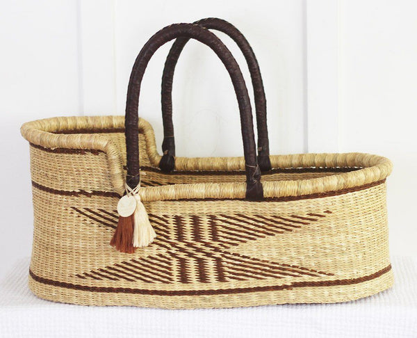 'Hunter' Moses Basket  - (mattress included)