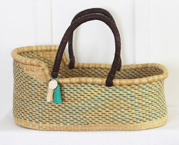 'Sky' Moses Basket  - (mattress included)