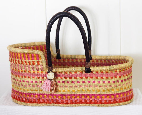 colourful moses basket