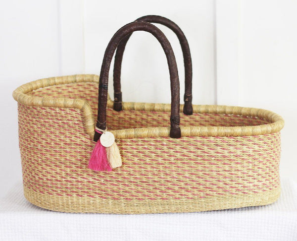 'Fairy Floss' Moses Basket  - (mattress included)