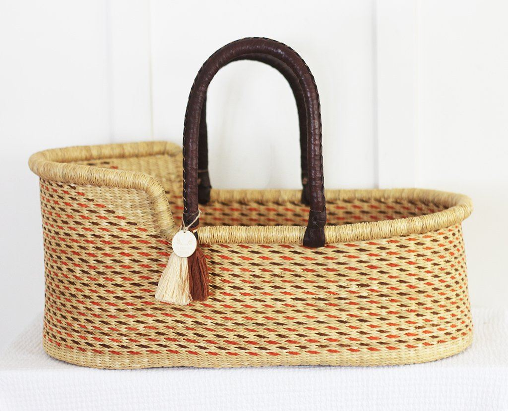 'Sticks and Stones' Moses Basket  - (mattress included)