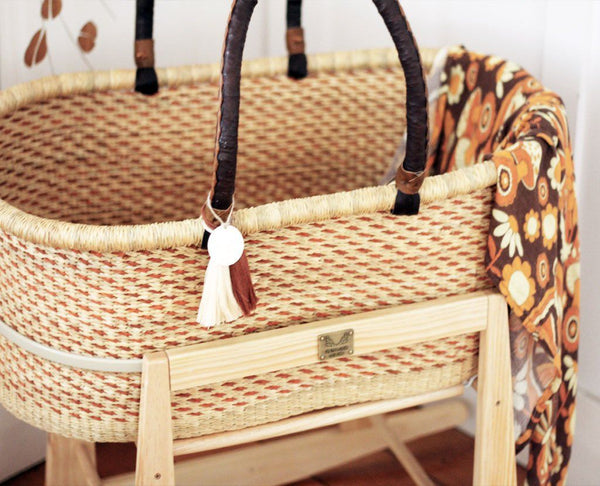'Almond' FT Moses Basket  - (mattress included)