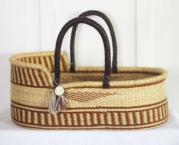 'Woodstock Revival' Moses Basket  - (mattress included)