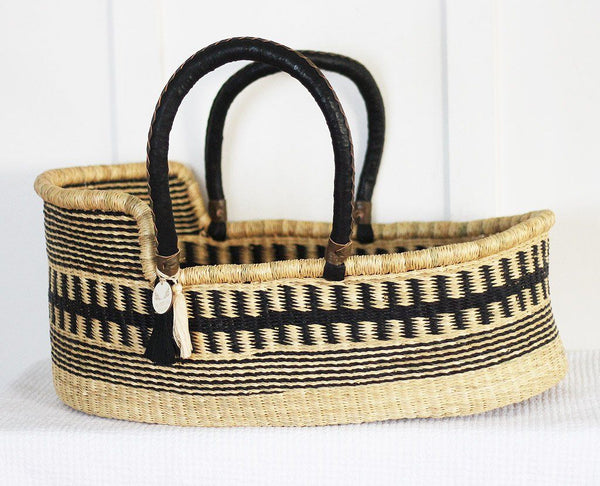 'Obsidian' Moses Basket  - (mattress included)