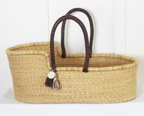 moses basket brown