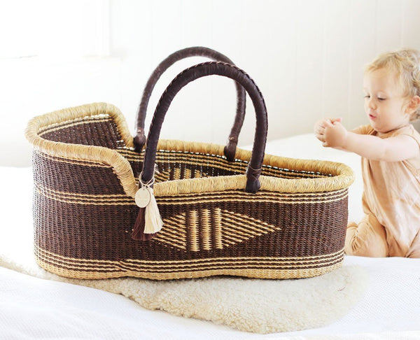 'Havana' Moses Basket  - (mattress included)