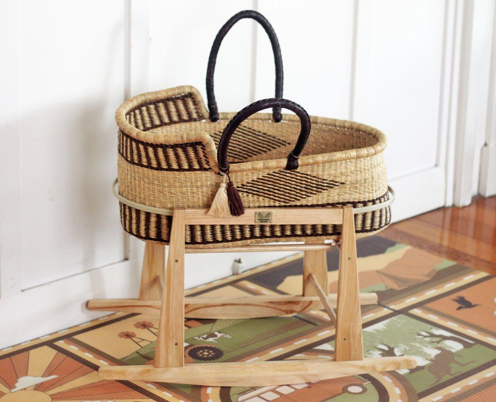 'Anchor' (Brown) Moses Basket  - (mattress included)