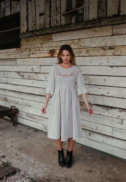 plus size linen dress