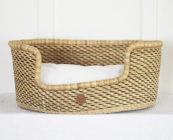 'Orion' Dog Basket (Small)  - cushion included