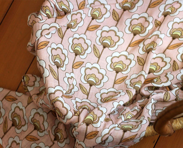 swaddle wrap peach
