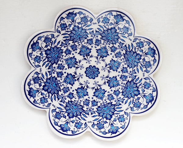 'Blue Violets' Turkish Trivet