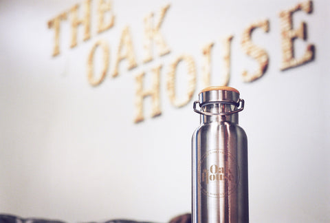 wabo oak house water bottle custom engraved