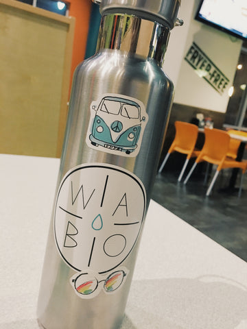 wabo stainless steel bottle stickers