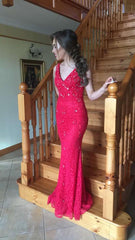 Charlene Lace and Pearl Formal Prom Dress