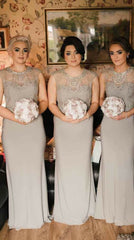 GREAT GATSBY GREY BRIDESMAIDS DRESS