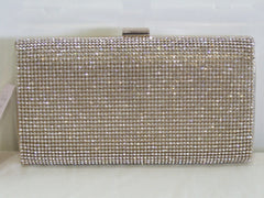 New York Rose Gold Crystal Clutch Bag