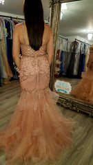 Sophie Pink Sequin Fishtail Formal Prom Dress