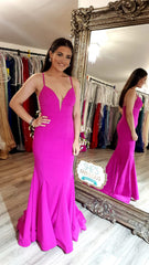 Ava Hot Pink Formal Prom Dress