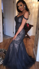 Ella Charcoal Fishtail Formal Prom Dress