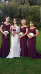 Burgundy Rachel Laced Embellished Top Bridesmaids Dress