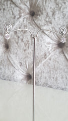 Grace Silver Crystal Drop Earrings