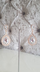 Orlagh Silver Crystal Earrings