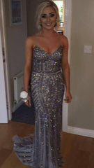 Shannon Heavy Beaded Swarovski Formal Gold Dress
