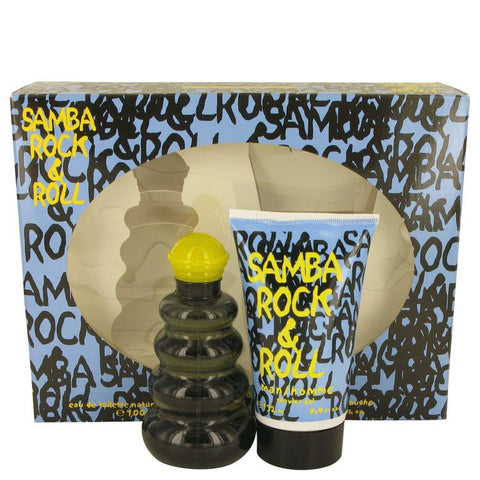 Samba Rock & Roll by Perfumers Workshop Gift Set -- 3.4 oz Eau De Toilette Spray + 4.4 Shower Gel