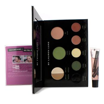 Lauren Luke My Luscious Greens Complete Makeup Palette (Without Eye Liner) (1x Blush, 2x Shadow Primer, 2x Eye Shadow, 2x Lip Color,1x Lip Gloss)